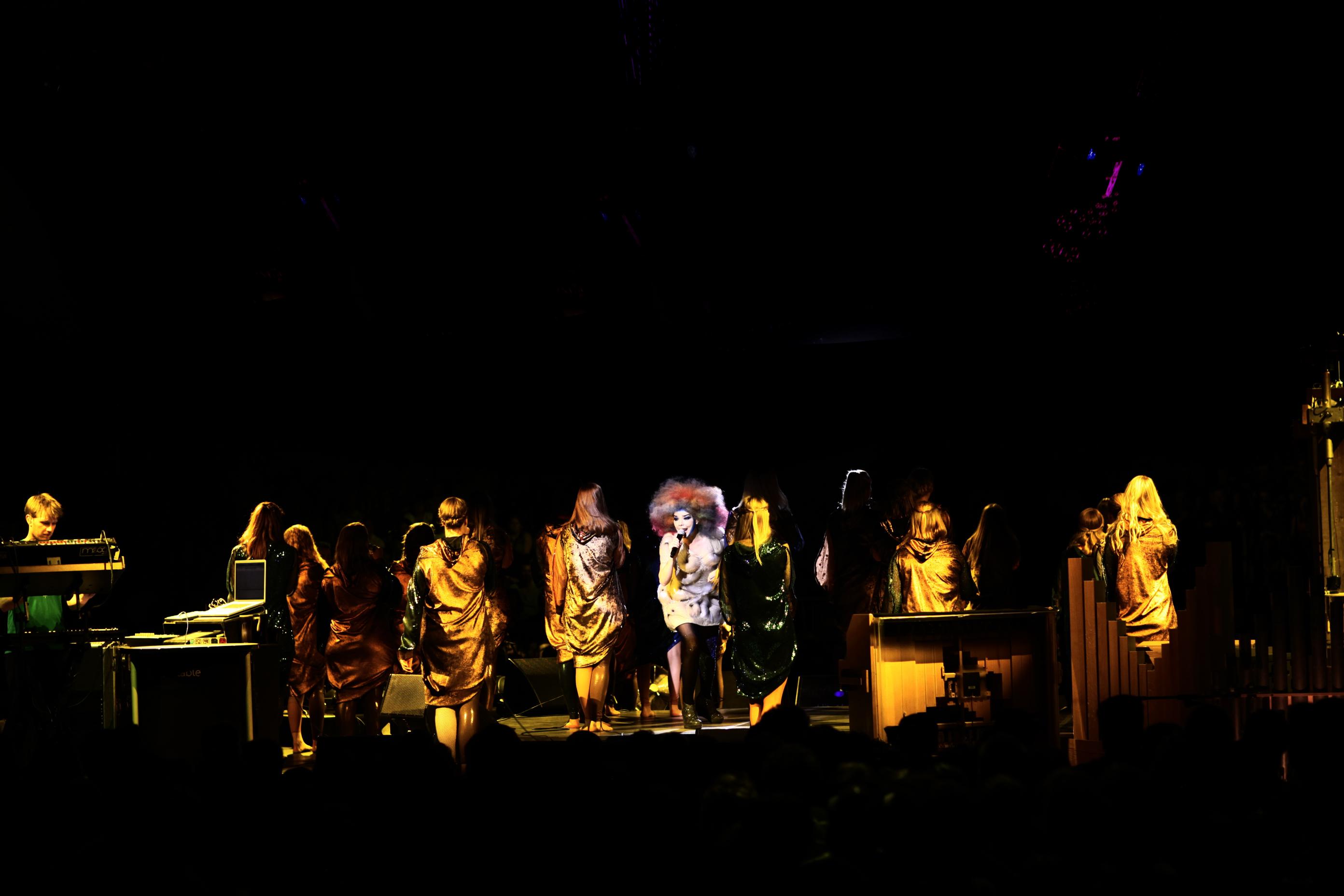 Björk at Alexandra Palace
